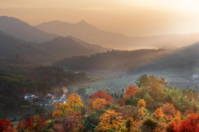 素描基础画秋天的风景